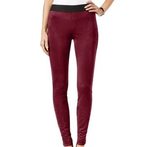 💙HP 💙INC Burgundy Faux Suede Pull-on Pants